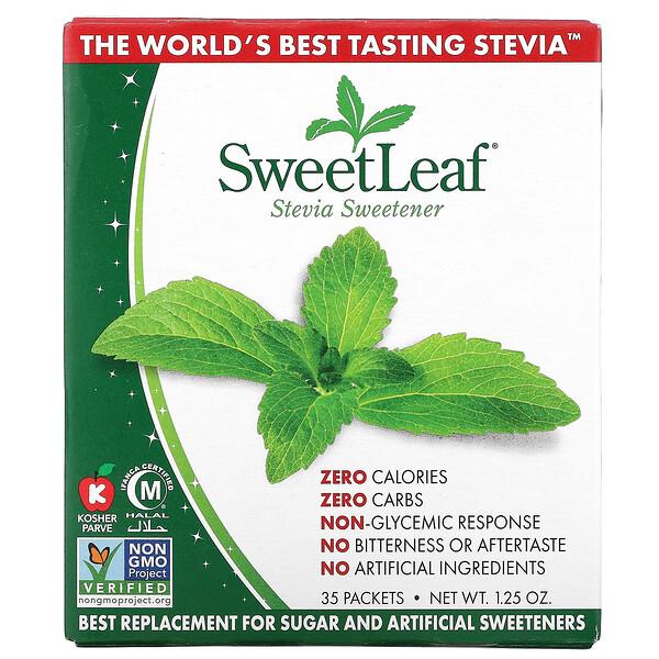 SweetLeaf, Natural Stevia Sweetener, 35 Packets, 1.25 oz