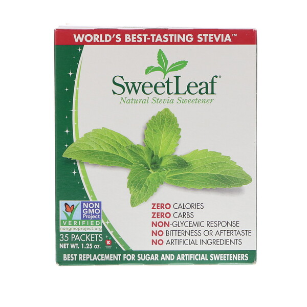 SweetLeaf, Natural Stevia Sweetener, 35 Packets, 1.25 oz