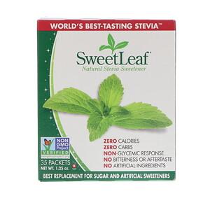Виздом Натуралс, SweetLeaf, Natural Stevia Sweetener, 35 Packets, 1.25 oz отзывы покупателей