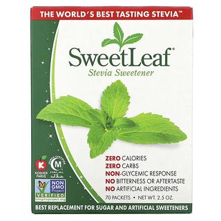 Wisdom Natural, SweetLeaf, Natural Stevia Sweetner, 70 Packets, 2.5 oz