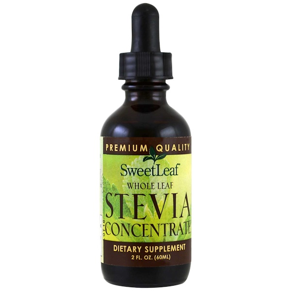 SweetLeaf, Stevia concentrate de hoja entera, 2 fl oz (60 ml)