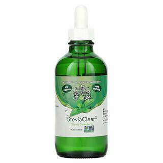 Wisdom Natural, SweetLeaf, Sweet Drops Stevia Sweetener, SteviaClear, 4 fl oz (120 ml)