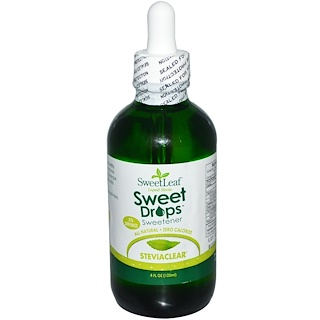 Wisdom Natural, SweetLeaf, Stevia flⁿssig, Sweet Drops, Sⁿ▀ungsmittel, 4 fl. oz. (120 ml)