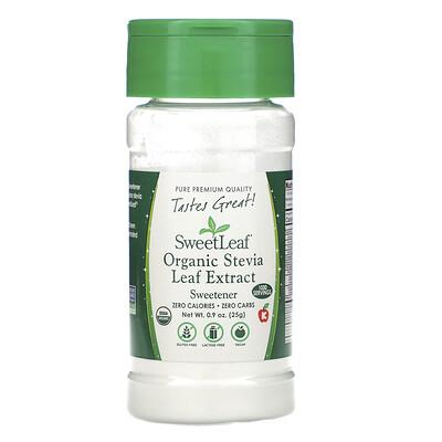 Wisdom Natural SweetLeaf, Organic Stevia Leaf Extract, Sweetener, .9 oz (25 g)