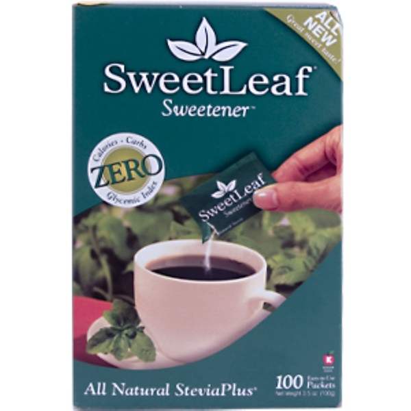 Wisdom Natural, SweetLeaf Sweetener, Stevia Plus, 100 Packets (Discontinued Item)