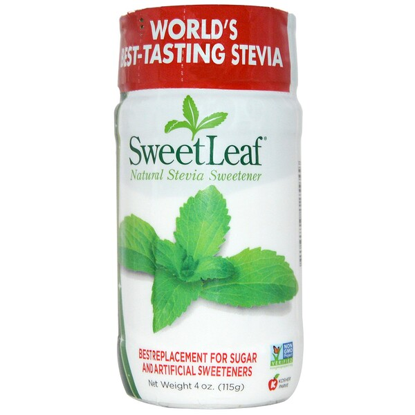Wisdom Natural, SweetLeaf, Endulzante Natural de Stevia, 4 oz (115 g)