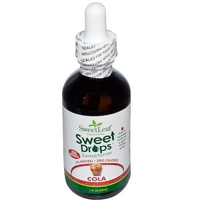 Купить Жидкая стевия SweetLeaf, подсластитель, кола, 2 жидких унции (60 мл)
