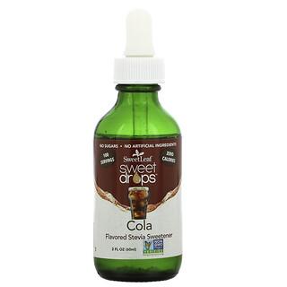 Wisdom Natural, SweetLeaf, Sweet Drops Stevia Sweetener, Cola, 2 fl oz (60 ml)