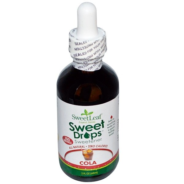 SweetLeaf Liquid Stevia, Sweet Drops Sweetener, Cola, 2 fl oz (60 ml)