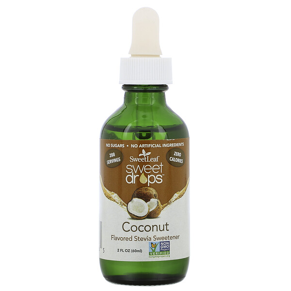SweetLeaf Sweet Drops, Coconut, 2 fl oz (60 ml)