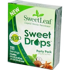 Виздом Натуралс, SweetLeaf, Sweet Drops, Party Pack 3 Flavor Bottles, 3 Bottles, .2 fl oz (6 ml) Each отзывы