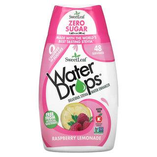 Wisdom Natural, SweetLeaf, Water Drops, Delicious Stevia Water Enhancer, Raspberry Lemonade, 1.62 fl oz (48 ml)