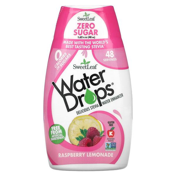 SweetLeaf, Water Drops, Delicious Stevia Water Enhancer, Raspberry Lemonade, 1.62 fl oz (48 ml)