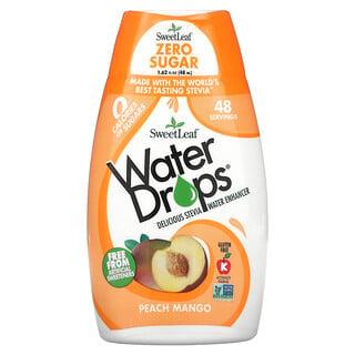 Wisdom Natural, SweetLeaf, Water Drops, Delicious Stevia Water Enhancer, Peach Mango, 1.62 fl oz (48 ml)