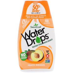 Виздом Натуралс, SweetLeaf, Water Drops, Delicious Stevia Water Enhancer, Peach Mango, 1.62 fl oz (48 ml) отзывы покупателей