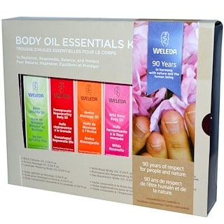 Weleda, Body Oils, Essential-Kit, 6 ╓le, (je 0,34 fl oz)