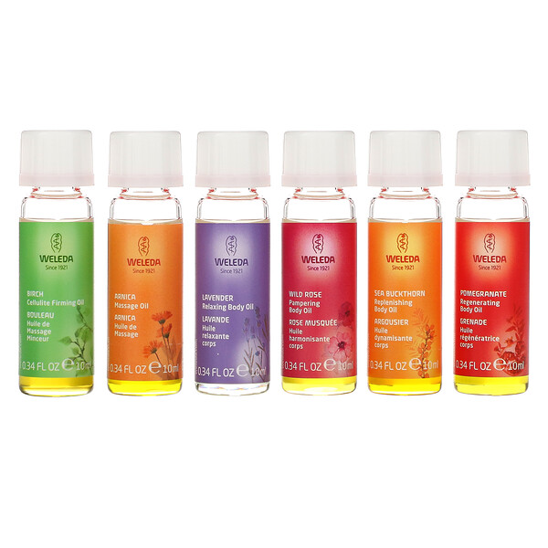 Body Oils, Essential Kit, 6 Oils, (0.34 fl oz Each)