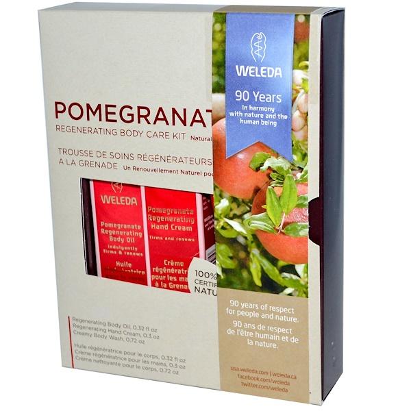 Weleda, Pomegranate, Regenerating Body Care Kit, 3 Piece Kit (Discontinued Item)