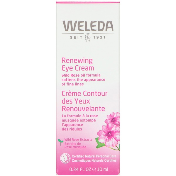 Renewing Eye Cream, Wild Rose Extracts, All Skin Types, 0.34 fl oz (10 ml)
