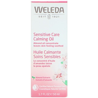 Weleda, センシティブケアカーミングオイル、アーモンドエキス、センシティブスキン、1.7液体オンス(50 ml)