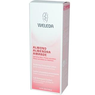 Weleda, 진정 효과 클린징 로션, 아몬드, 2.5 fl oz (75 ml)