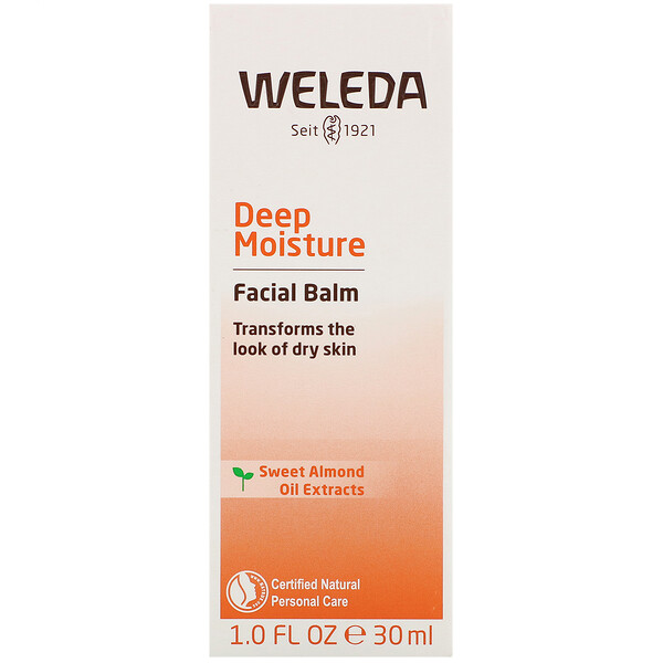 Deep Moisture Facial Balm, Sweet Almond Oil Extracts, 1 fl oz (30 ml)