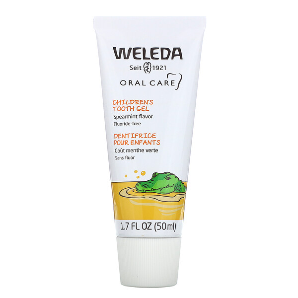 Weleda, 子ども用歯磨きジェル、フッ化物無添加、スペアミント、50ml(1.7液量オンス)