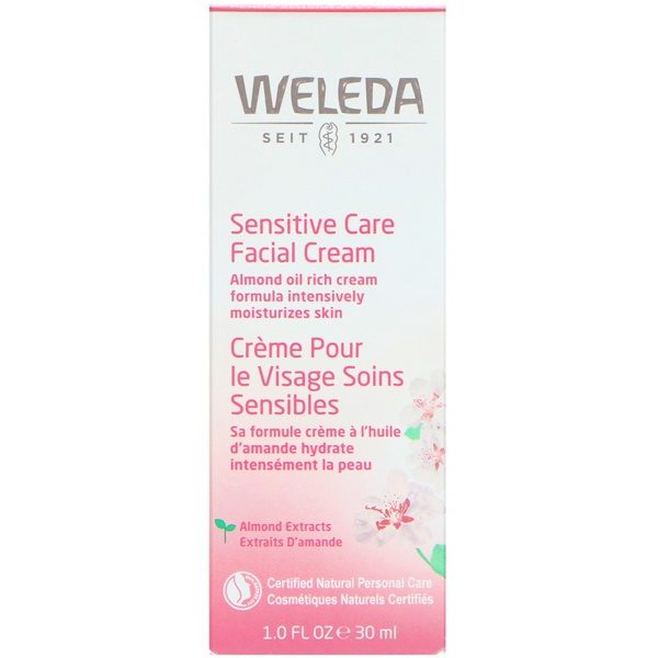 Weleda, Sensitive Care Facial Cream, Almond Extracts, Sensitive & Dry Skin, 1.0 fl oz (30 ml)