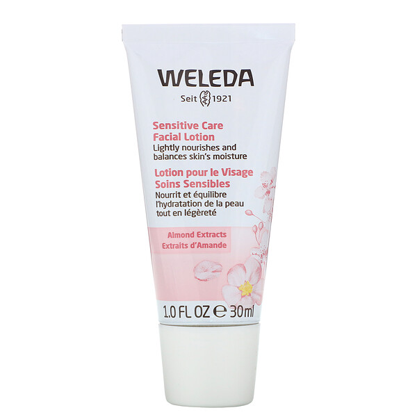 Weleda, Sensitive Care Facial Lotion, Almond Extracts, 1.0 fl oz (30 ml)