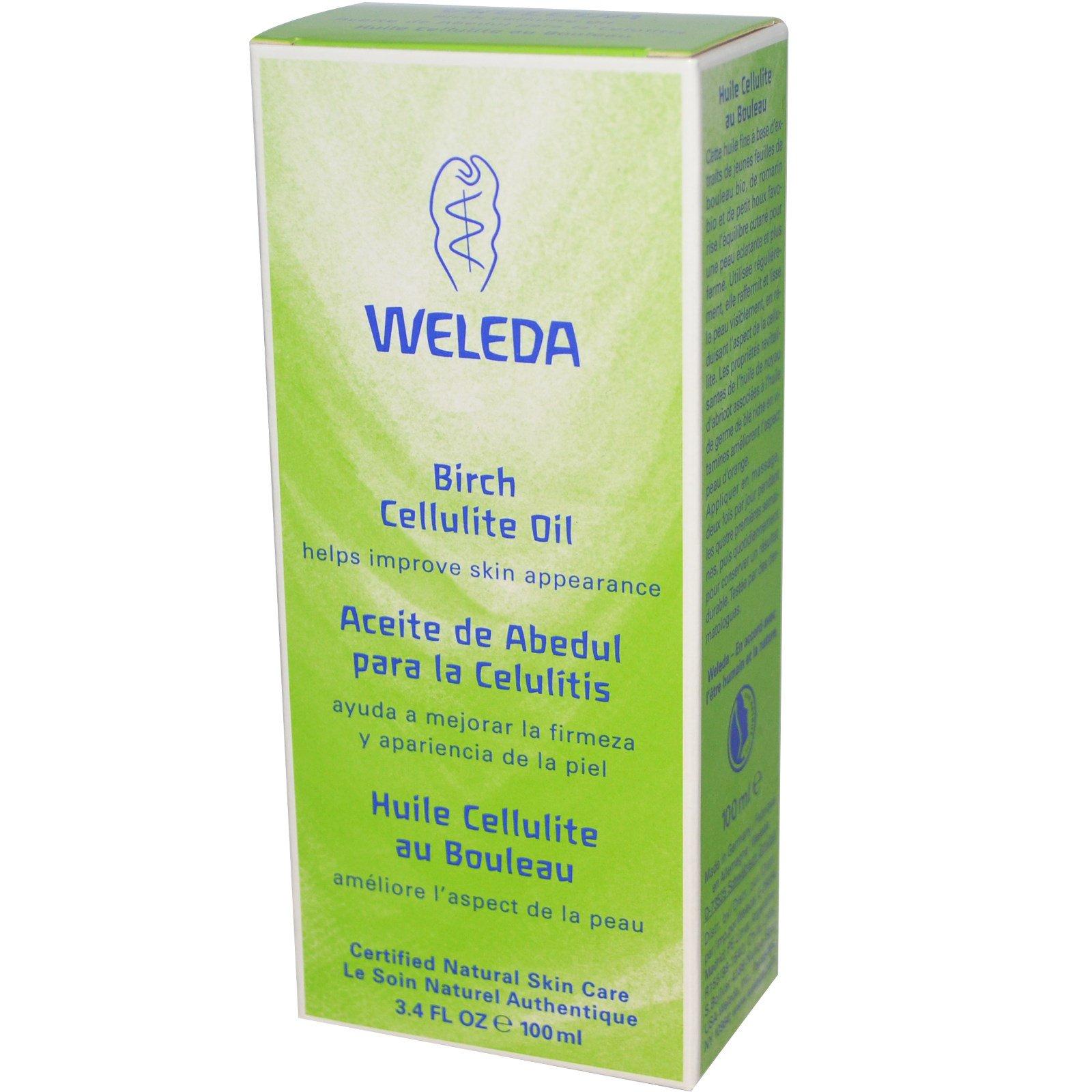 Weleda, Масло от целлюлита с экстрактом березы, 3,4 жидких унции (100 мл)
