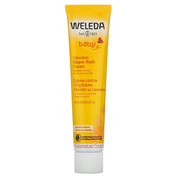 Weleda, Baby, Calendula Diaper Rash Cream, Calendula Extracts, 2.9 oz (81 g)
