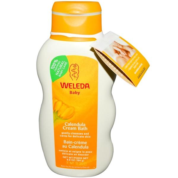 Weleda, Baby, Calendula Cream Bath, 6.8 oz (194 g) (Discontinued Item)