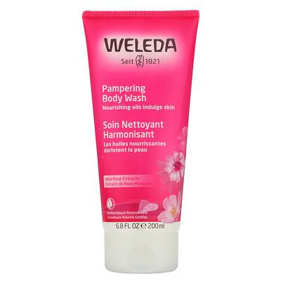 Weleda Pampering Body Wash, Wild Rose Extracts, 6.8 fl oz (200 ml)