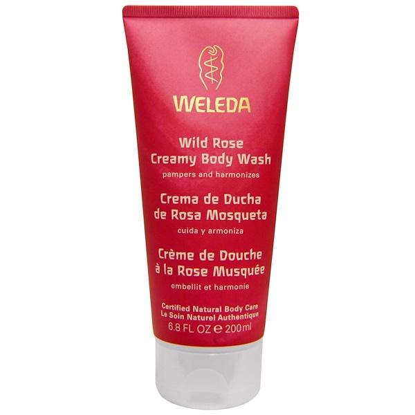 Weleda, ワイルドローズ・クリーミーボディーウォッシュ、 6.8液量オンス (200 ml)