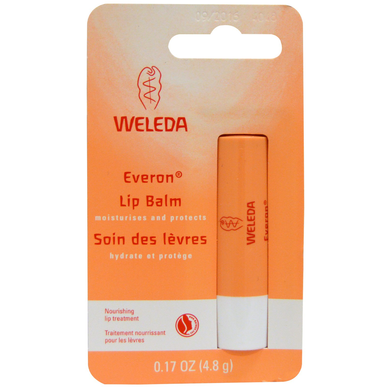 Weleda Everon Lip Balm, 0.17 Ounces Organic Lip + Body Balm Unscented - 0.6 oz. by Sustain (pack of 3)