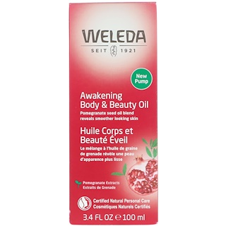 Weleda, Pomegranate Regenerating Body Oil, 3.4 fl oz (100 ml)