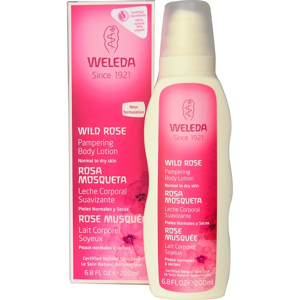 Weleda, Pampering Body Lotion, Wild Rose, 6.8 fl oz (200 ml)