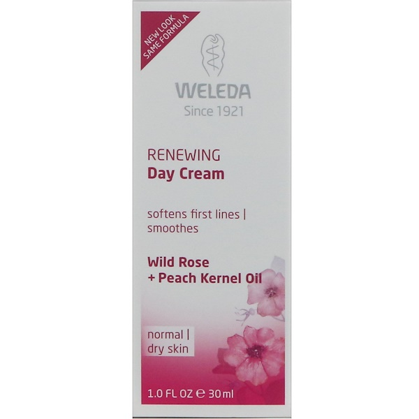 Weleda, Renewing Day Cream, Wild Rose Extracts, Normal to Dry Skin, 1.0 fl oz (30 ml)