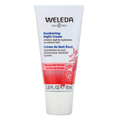 Купить Weleda Awakening Night Cream, Pomegranate Extracts, 1.0 fl oz (30 ml)