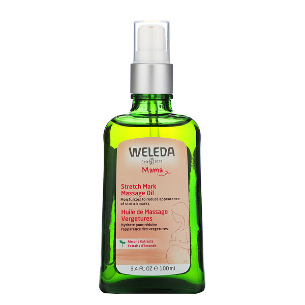 Weleda, Mama, Stretch Mark Massage Oil, Almond Extracts, 3.4 fl oz (100 ml)