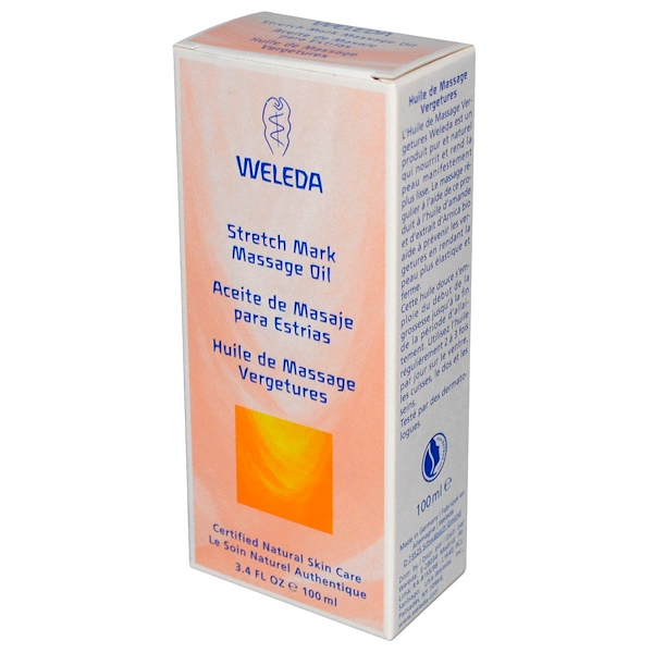 Weleda, Stretch Mark Massage Oil, 3.4 fl oz (100 ml)