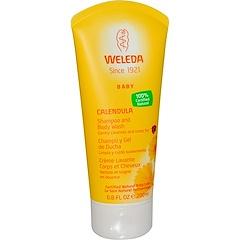 Weleda, Calendula, Baby Shampoo and Body Wash, 6.8 fl oz (200 ml)