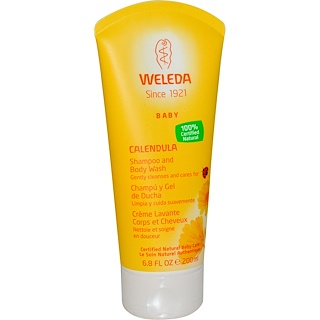 Weleda, Calendula, Baby Shampoo and Body Wash, 6.8 fl oz (200 ml)