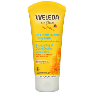Weleda, Calendula Extracts, 2-in-1 Gentle Shampoo + Body Wash, 6.8 fl oz (200 ml)