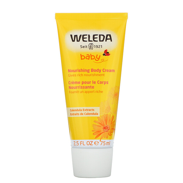 Weleda, Baby, Nourishing Body Cream, Calendula Extracts, 2.5 fl oz (75 ml)