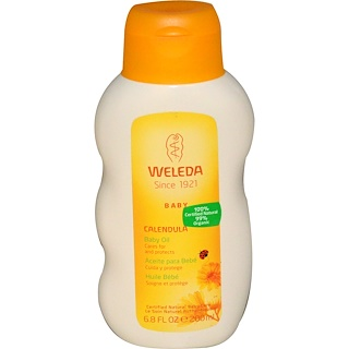 Weleda, ベビーオイル、カレンデュラ、6.8オンス (200 ml)