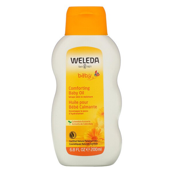 Weleda, Baby, Comforting Baby Oil, Calendula Extracts, 6.8 fl oz (200 ml)