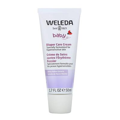 Купить Weleda Baby, Diaper Care Cream, White Mallow Extracts, 1.7 fl oz (50 ml)