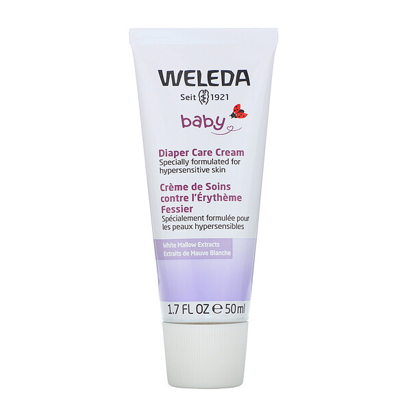 Weleda, Baby, Diaper Care Cream, White Mallow Extracts, 1.7 fl oz (50 ml)