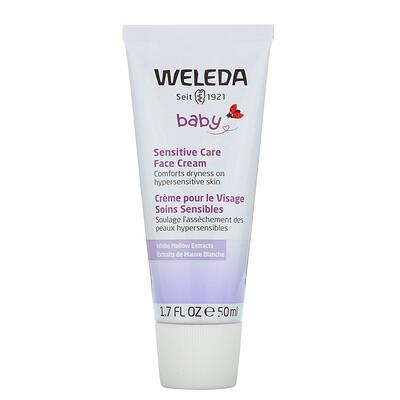 Купить Weleda Baby, Sensitive Care Face Cream, White Mallows Extracts, 1.7 fl oz (50 ml)